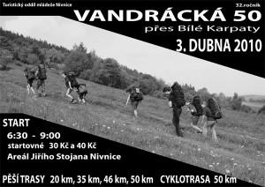 Plakát Vandrácká 50 - 2010